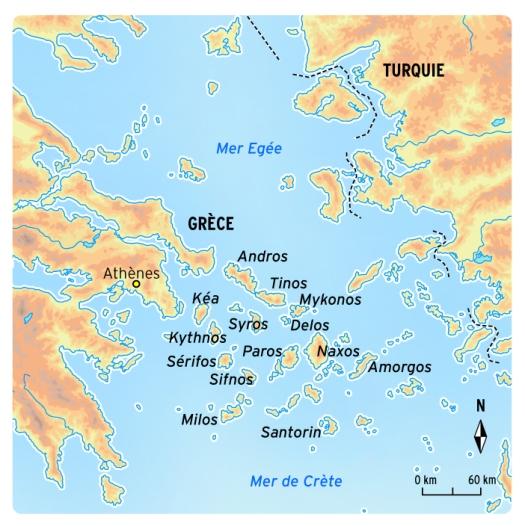 Carte Grece Crete Cyclades.Les Cyclades Naxos Paros Et Mykonos Mes Bouts Du Monde